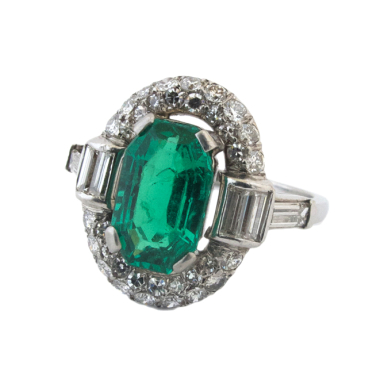 ring emerald diamonds