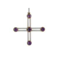 cross with amethysts