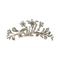 Floral diamond tiara